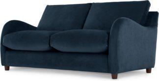 An Image of Sofia 2 Seater Sofabed, Plush Indigo Velvet