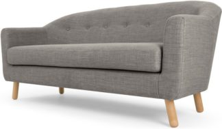 An Image of Lottie 3 Seater Sofa, Chalk Grey