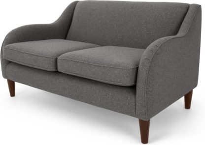 An Image of Helena 2 Seater Sofa, Textured Weave Smoke Grey