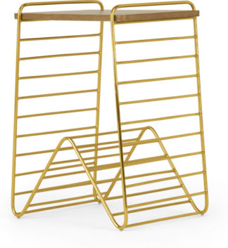 An Image of Dena Bedside Table, Brass and Mango