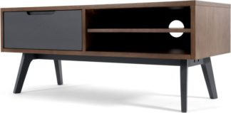 An Image of Jenson Media Unit, Dark Oak and Grey