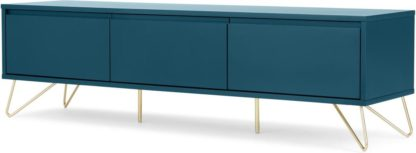 An Image of Elona Wide Media Unit, Teal & Brass