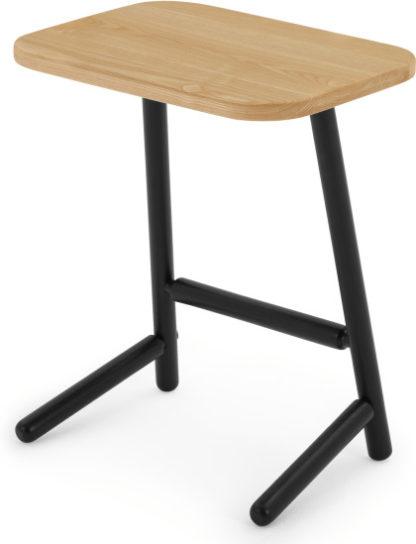 An Image of Lena Side Table, Ash and Black