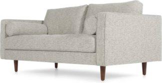 An Image of Scott Large 2 Seater Sofa, Grey Basketweave