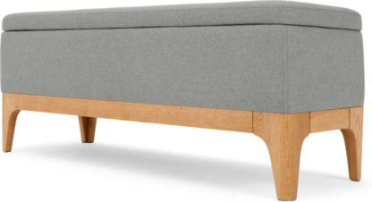 An Image of Roscoe Ottoman Storage Bench, Cool Grey