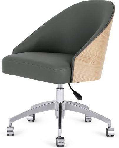 An Image of Fernanda Office Chair, Ash and Grey PU