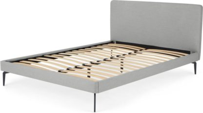 An Image of Kida Super King Bed, Pluto Grey weave