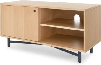 An Image of MADE Essentials Benn Media Unit, Oak and Grey
