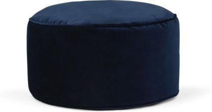 An Image of Lux Velvet floor cushion, Navy Velvet