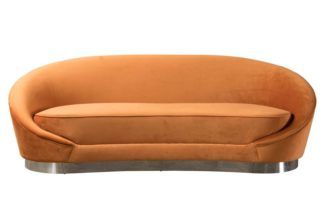 An Image of Selini Three Seat Sofa - Pumpkin