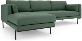 An Image of Harlow Left Hand Facing Chaise End Corner Sofa, Darby Green