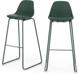 An Image of Set of 2 Duggie Barstools, Green
