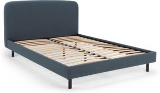 An Image of MADE Essentials Besley Super Kingsize Bed, Aegean Blue