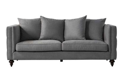 An Image of Ascot Three Seat Sofa – Flint Grey