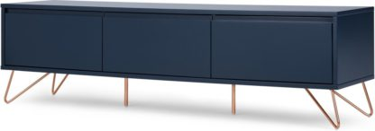 An Image of Elona Wide Media Unit, Dark Blue & Copper