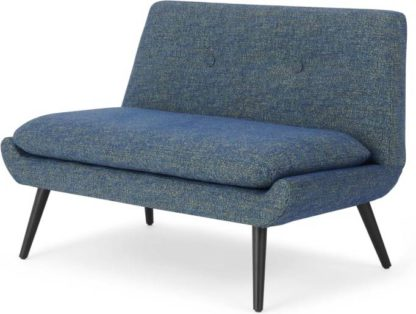 An Image of Jonny 2 Seater Sofa, Revival Blue