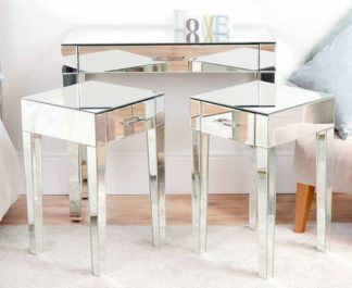 An Image of ZOE Mirrored Dressing Table & Pair of Mirrored Bedside Tables