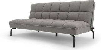 An Image of Hallie Sofa Bed, Manhattan Grey with Black Legs