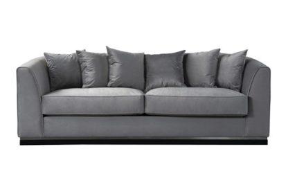 An Image of Pino Three Seat Sofa - Dove Grey - Silver Base