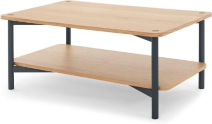 An Image of MADE Essentials Benn Coffee Table, Oak and Grey