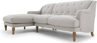 An Image of Ariana Left Hand Facing Chaise End Corner Sofa, Chic Grey