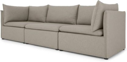 An Image of Victor 3 Seat Sofa With Storage, Portland Grey