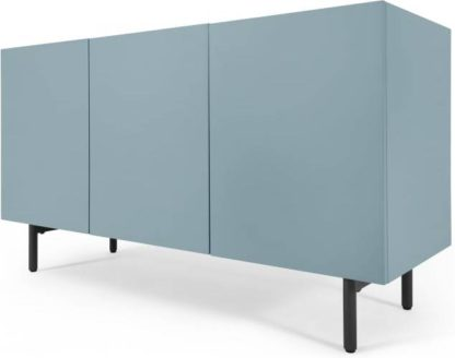An Image of MADE Essentials Mino sideboard, Oak and Blue