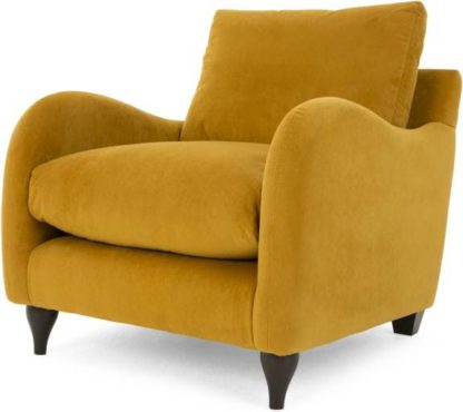 An Image of Sofia Armchair, Plush Turmeric Velvet