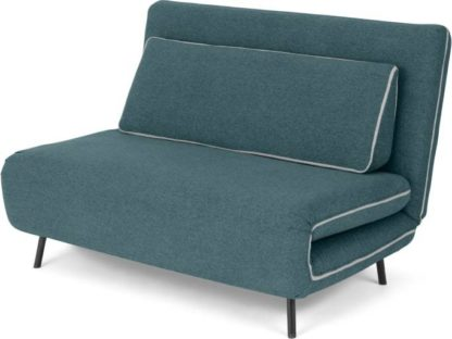An Image of Kahlo Double Seat Sofa Bed, Sherbet Blue