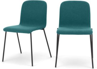 An Image of Set of 2 Cata Dining Chairs, Mineral Blue