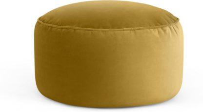 An Image of Lux Velvet floor cushion, Vintage Gold Velvet