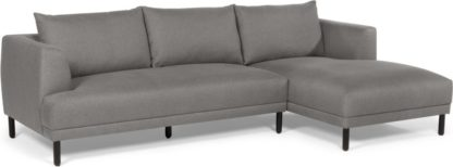 An Image of Bowery Right hand Facing Chaise End Corner Sofa, Fossil Grey
