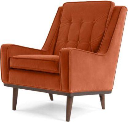 An Image of Scott Armchair, Burnt Orange Cotton Velvet