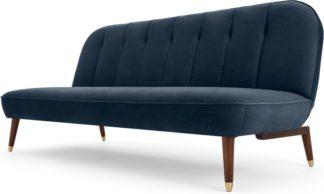 An Image of Margot Click Clack Sofa Bed, Sapphire Blue Velvet