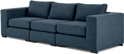 An Image of Mortimer 4 Seater Modular Sofa, Harbour Blue
