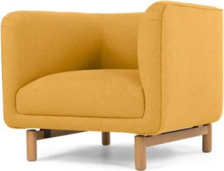 An Image of Becca Armchair, Yolk Yellow
