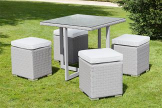An Image of Cubo Grey Dining Set