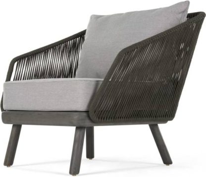 An Image of Alif Garden Armchair, Grey Acacia