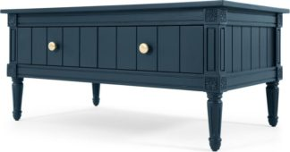 An Image of Bourbon Vintage Coffee Table, Dark Blue