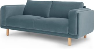 An Image of Karson 2 Seater Sofa, Marine Green Velvet