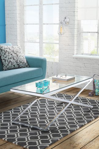 An Image of Anikka Chrome and Glass Coffee Table