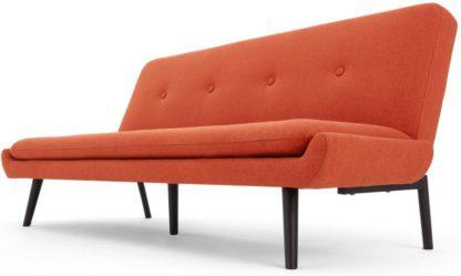 An Image of Edwin, Click Clack Sofa Bed, Retro Orange