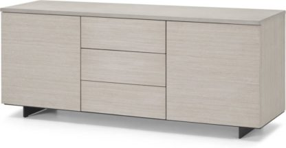 An Image of Claus Sideboard, Grey Concrete and Light Oak
