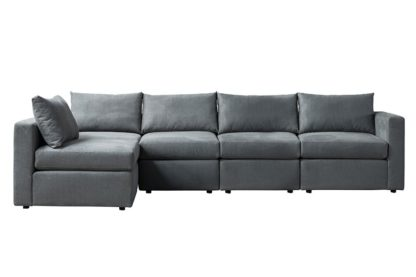 An Image of Miller Four Seat Corner Sofa - Left or Right Hand – Charcoal