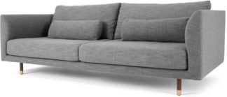 An Image of Jules 3 Seater Sofa, Austria Grey
