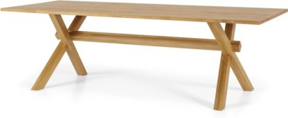 An Image of Bayron 10 Seat Dining Table, Brushed Solid Oak
