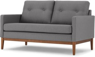 An Image of Edison 2 Seater Sofa, Textured Coin Grey