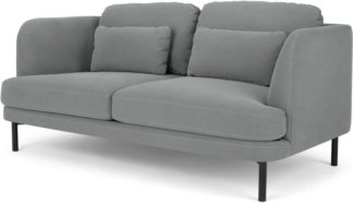 An Image of Herman 2 Seater Sofa, Finch Grey Cotton