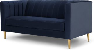 An Image of Amicie 2 Seater Sofa, Royal Blue Velvet