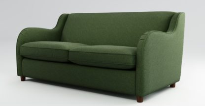 An Image of Custom MADE Helena Sofabed with Memory Foam Mattress, Textured Weave Green